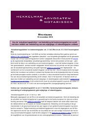 'Actualiseringsplichten' Wro - Hekkelman Advocaten & Notarissen