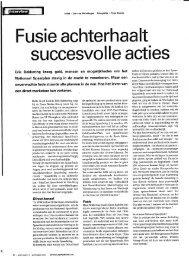Fusie achterhaalt succesvolle acties - Erik Bekkering