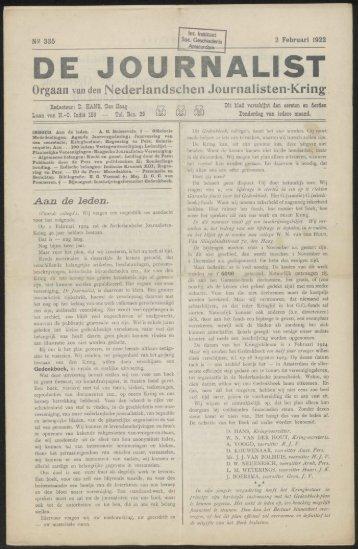 DE JOURNALIST