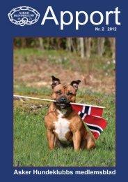 Apport 2-2012 hele - Asker Hundeklubb