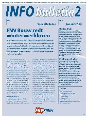 FNV Bouw redt winterwerklozen - Afdeling