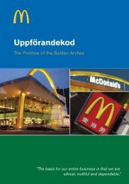 Uppförandekod - McDonald's