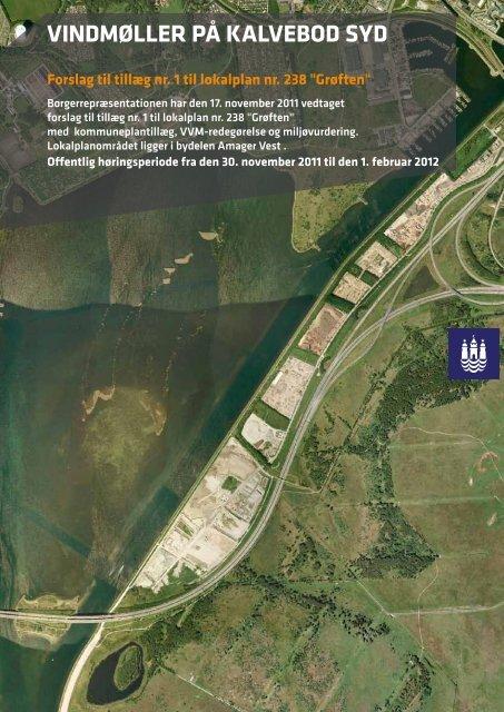 Lokalplanforslag for vindmøller på Kalvebod Syd - hofor
