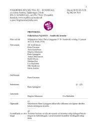 Årsmötesprotokoll - Folkrörelsen Nej till EU