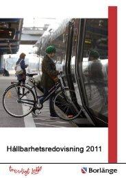 Hållbarhetsredovisning 2011.pdf - Borlänge kommun