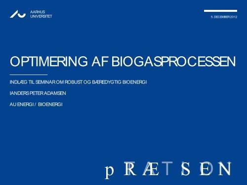 OPTIMERING AF BIOGASPROCESSEN - Biopress