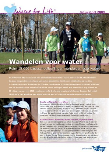 brochure Wandelen voor Water - Rotary Club Zwolle IJsselland