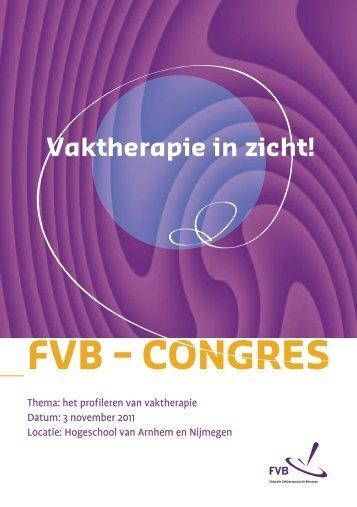 FVB – CONGRES - Federatie Vaktherapeutische Beroepen