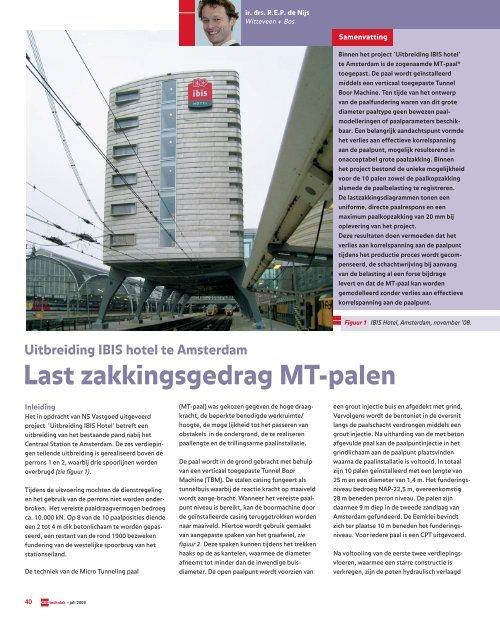 Geotechniek Last zakkingsgedrag MT-palen bij uitbreiding IBIS ...