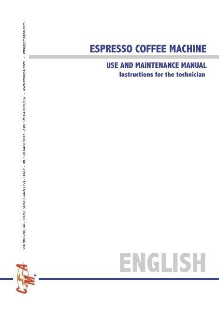 CMA Technical Manual - Love Coffee Machines