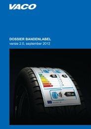 DOSSIER BANDENLABEL versie 2.0, september 2012 - Van Klei