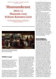 Museumkrant 2012_02 - Museum voor Schone Kunsten Gent