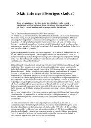 Skär inte ner i Sveriges skolor - Barnverket