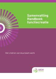Download de samenvatting Handboek Functiecreatie - SBCM