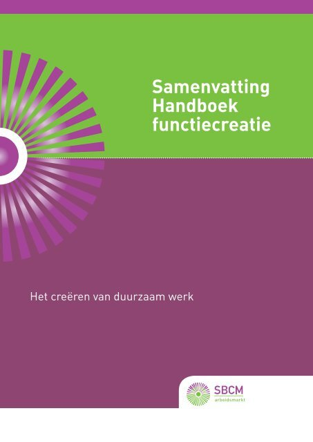 Download de samenvatting Handboek Functiecreatie - SBCM