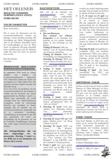 Februari 2011 (pdf) (extra editie) - Annen-Info.nl