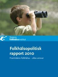 Folkhälsopolitisk rapport 2010 - Tibro kommun