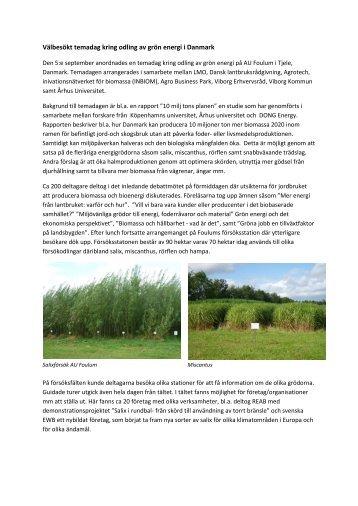reportage från dagen - Bioenergiportalen