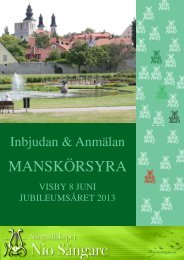 Inbjudan till Manskörsyra 2013 i Visby - Sångsällskapet NS
