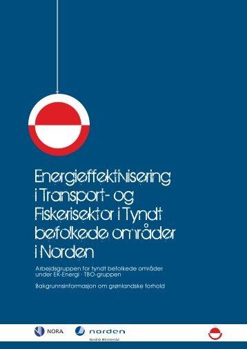 og Fiskerisektor i Tyndt befolkede områder i Norden