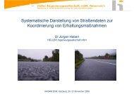 Systematische Darstellung von Straßendaten zur Koordinierung von ...