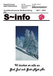 Medlemstidning NR.7 - S-info