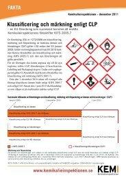 Klassificering och märkning enligt CLP - Kemikalieinspektionen