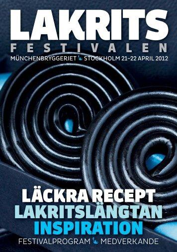 Festivaltidningen - Lakritsfestivalen