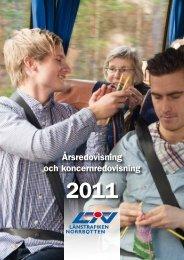 Årsredovisning 2011 - Länstrafiken Norrbotten