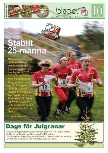 Stabilt 25-manna - Västerås SOK