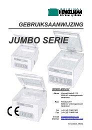 gebruiksaanwijzing jumbo serie - W de Graaf