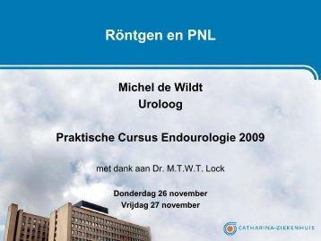 M.J.A.M. de Wildt: Röntgen en PNL