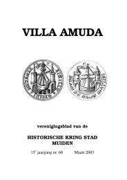 Villa Amuda nr. 60 Maart 2003 - Historische Kring Stad Muiden