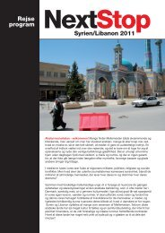Rejse program Syrien/Libanon 2011 - Global Contact