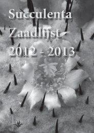 Zaadlijst 2012 - 2013 1 - Cactusinfo