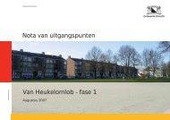 Nota van uitgangspunten Van Heukelomlob ... - Gemeente Utrecht