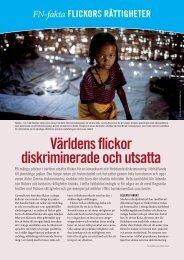 Flickors rättigheter - Svenska FN-förbundet