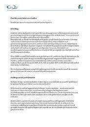 Pamflet, naar betere evaluaties Gericht aan zowel ... - Crisislab