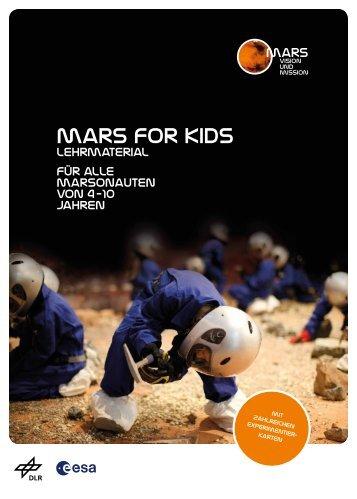 Lehrmaterial für alle Marsonauten von 4 - 10 Jahren