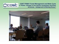 background to Working Group 1 - Forest Management and the Water ...