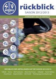 Jahresrückblick 2012/2013