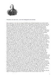 Theodorus Van der Groe - over het heilig gericht des hemels Maar ...