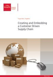 Creating and Embedding a Customer Driven Supply ... - BearingPoint