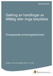 Gallring av handlingar av tillfällig eller ringa betydelse.pdf