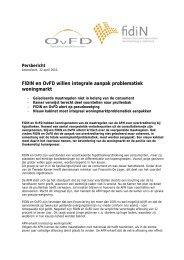 FIDIN en OvFD willen integrale aanpak problematiek woningmarkt