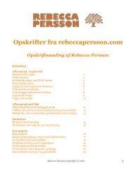 Opskrifter fra rebeccapersson.com