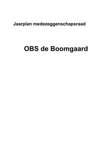 Jaarplan MR 2013 (1).pdf - OBS De Boomgaard