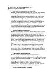 Overzicht stand van zaken knelpunten GROS - Europa decentraal