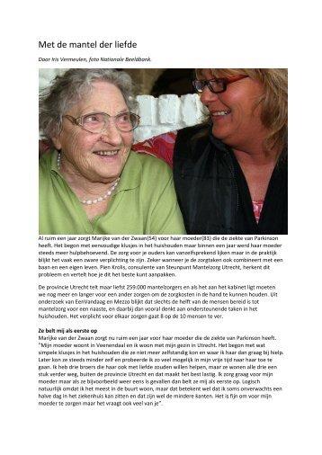 Interview met Marijke van der Zwaan en Pien Krolis - Steunpunt ...