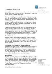 Forældrebrev 20. marts 2013 - Skoleporten - Tved Skole